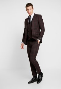 Burton Menswear London - TARTAN - Colbert - red - 1