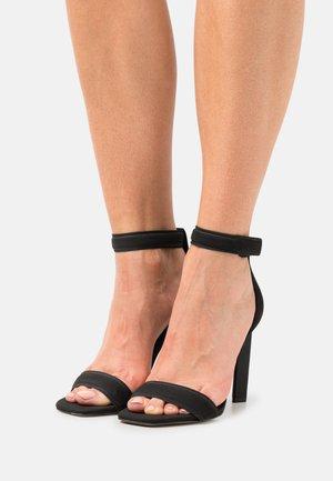 VEGAN ROSALIAA - High heeled sandals - black