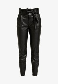 ONLY - ONLPOPTRASH YO EASY PAPERBAG - Trousers - black - 5