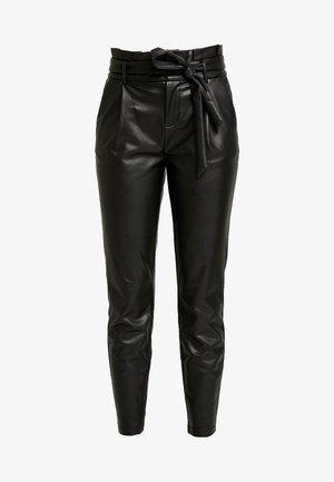 ONLPOPTRASH YO EASY PAPERBAG - Trousers - black