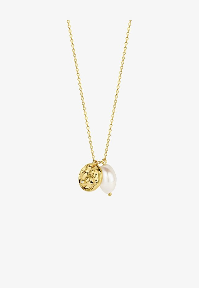 COCO PEARL DIAMOND NECKLACE - Collier - 18k yellow gold vermeil