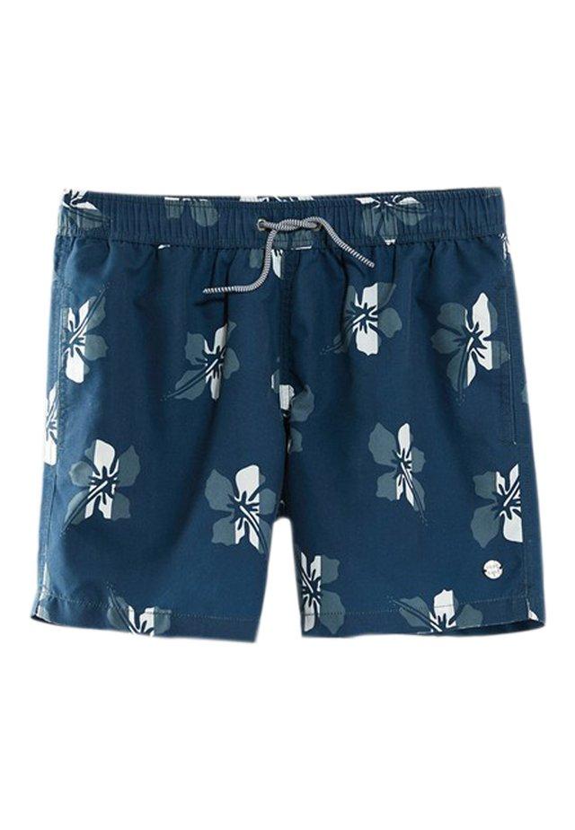 MIT HAWAII-PRINT - Shorts da mare - blue-black denim