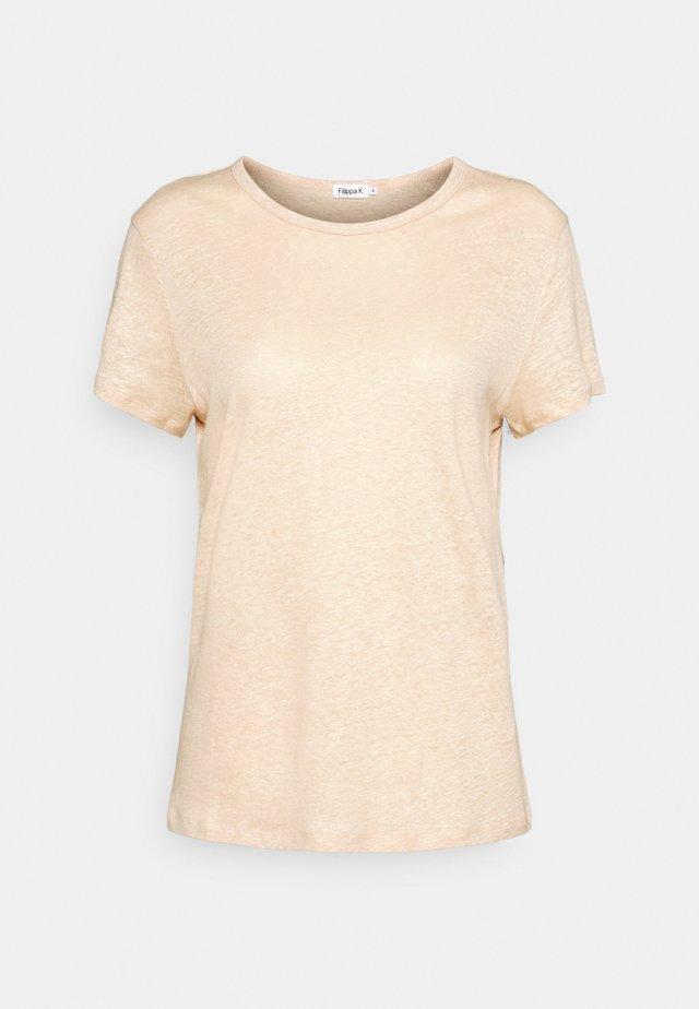 HAZEL TEE - Jednoduché triko - natural beige