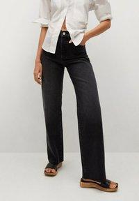 Mango - Flared Jeans - black denim - 0