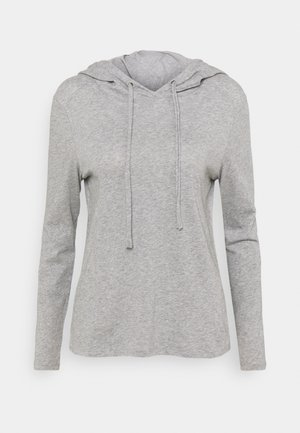 LONGSLEEVE HOODIE - Long sleeved top - grey melange