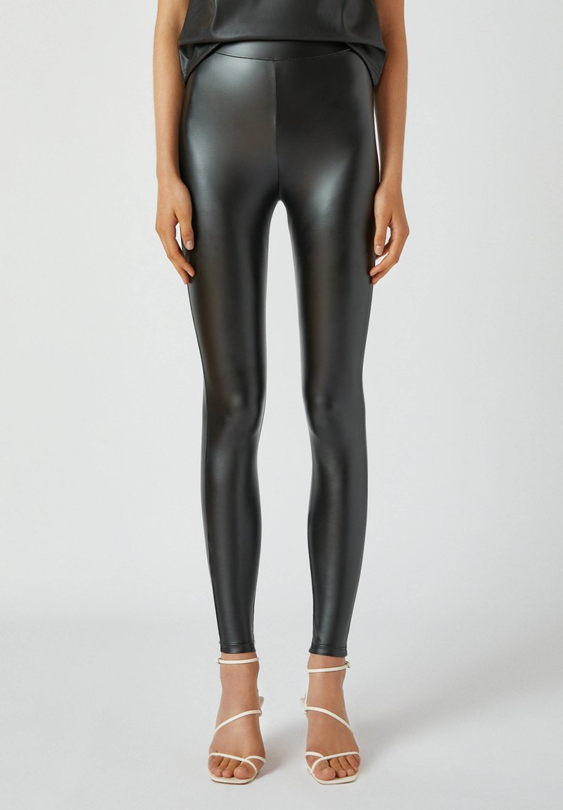 PULL&BEAR - Leggings - Trousers - black