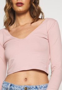 Even&Odd - 2 PACK - Long sleeved top - pale mauve/white