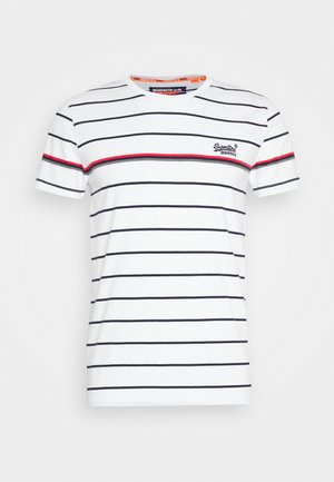 BRETTON STRIPE TEE - Print T-shirt - optic