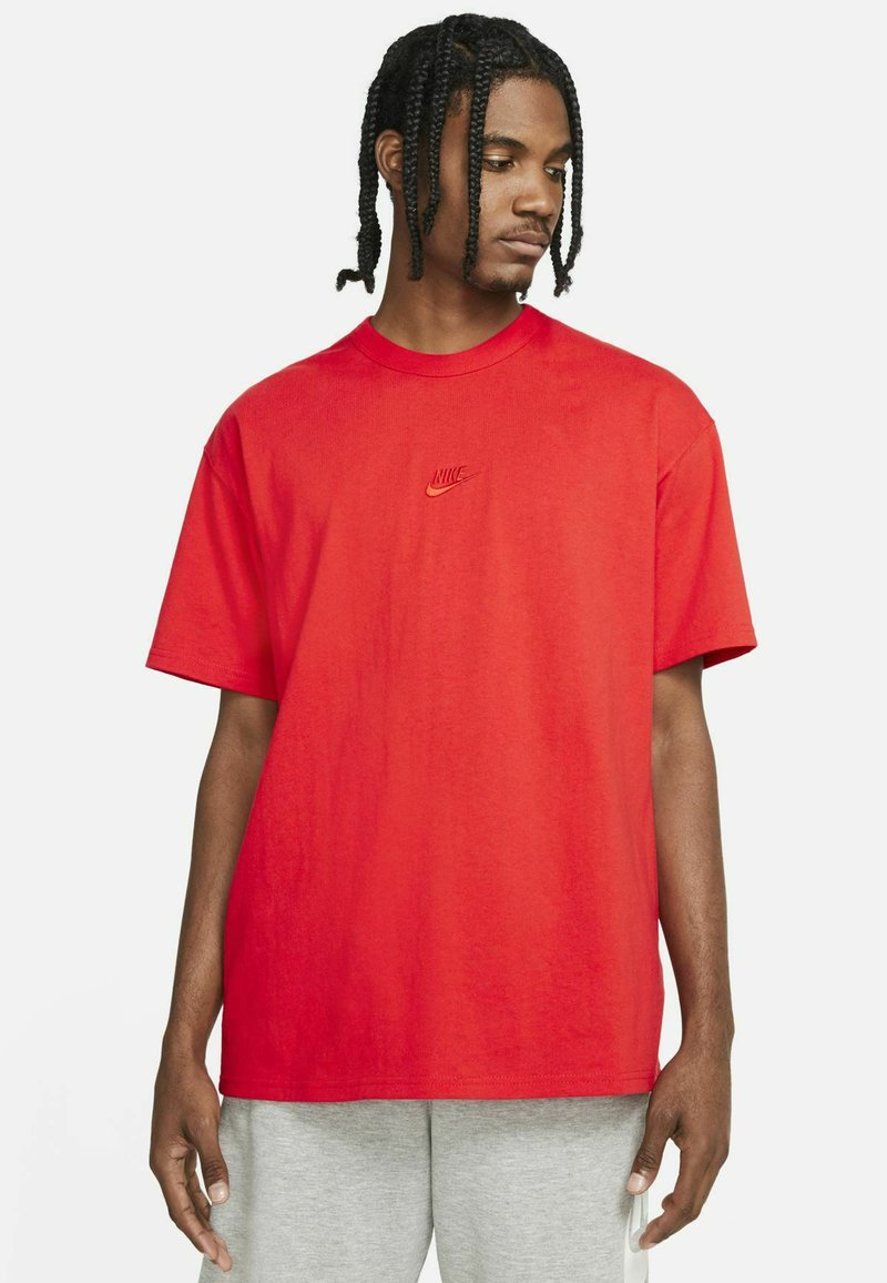 Nike Sportswear - TEE PREMIUM ESSENTIAL - T-shirt - bas - chile red