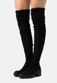 Miss Selfridge - Kozačky nad kolena - black - 0