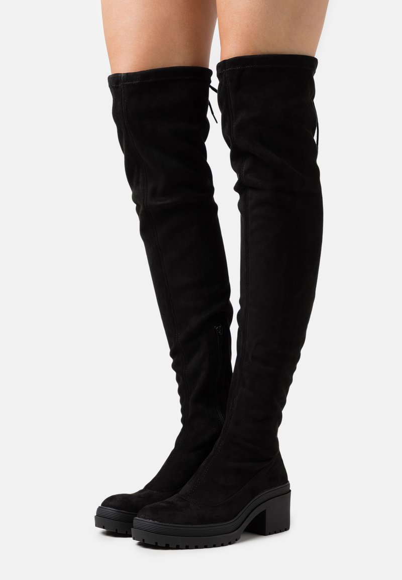 Miss Selfridge - Kozačky nad kolena - black