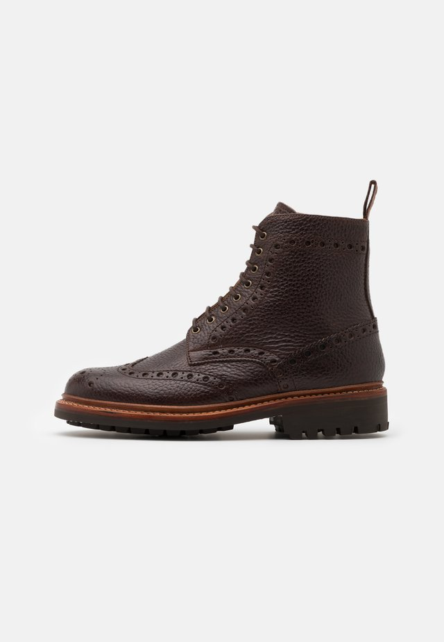 FRED - Lace-up ankle boots - dark brown