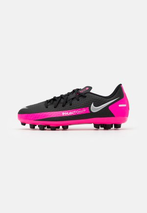 PHANTOM ACADEMY - Moulded stud football boots - black/metallic silver/pink blast