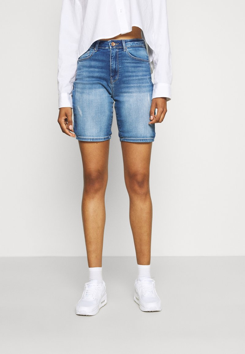 ONLY - ONLPAOLA LIFE - Denim shorts - blue denim