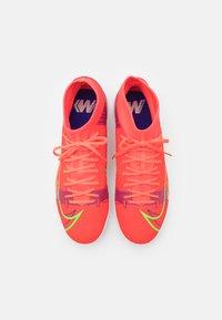 Nike Performance - MERCURIAL 8 ACADEMY TF - Astro turf trainers - bright crimson/metallic silver - 3