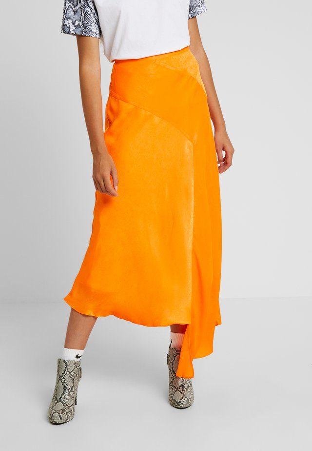 SKIRT - Jupe longue - orange
