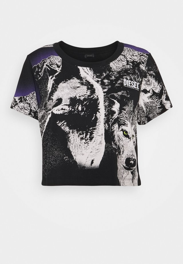 TAIS - T-shirt con stampa - black
