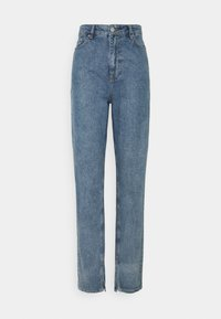 NA-KD Tall - SIDE SLIT - Jeans relaxed fit - blue - 0