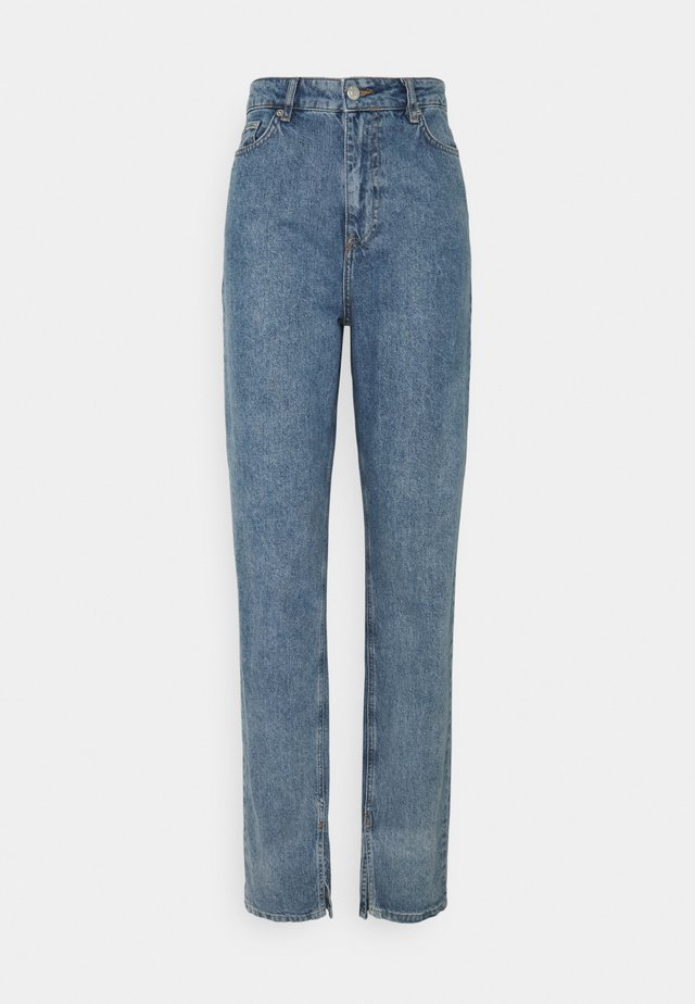SIDE SLIT - Jeans relaxed fit - blue