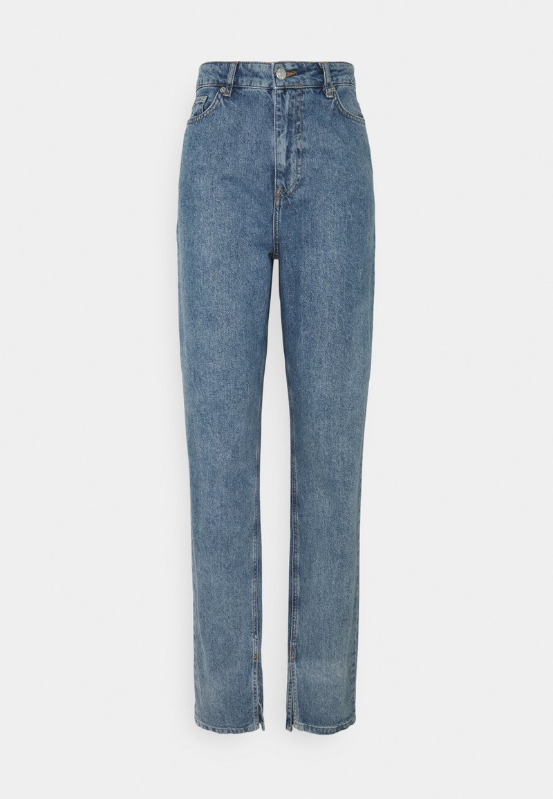 NA-KD Tall - SIDE SLIT - Jeans relaxed fit - blue