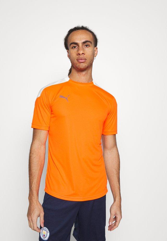 Print T-shirt - shocking orange/white