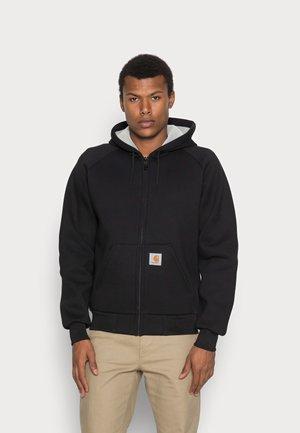 CAR LUX HOODED JACKET - Sweater met rits - black / grey