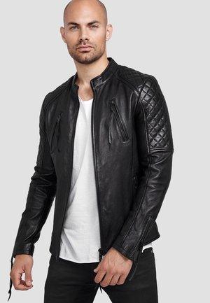 FRANKY - Leather jacket - schwarz