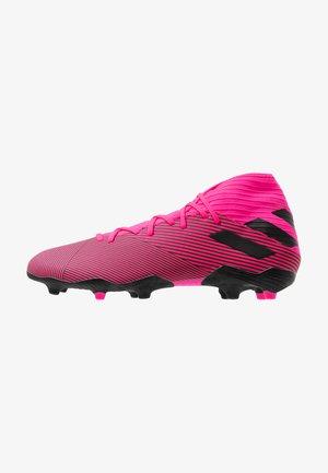 NEMEZIZ FOOTBALL BOOTS FIRM GROUND - Moulded stud football boots - shock pink/core black
