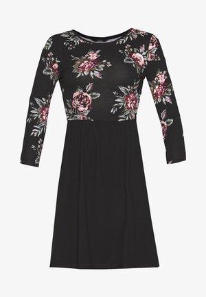 ONLAMBER AMY 3/4 DRESS PETITE - Vestido informal - black/rose