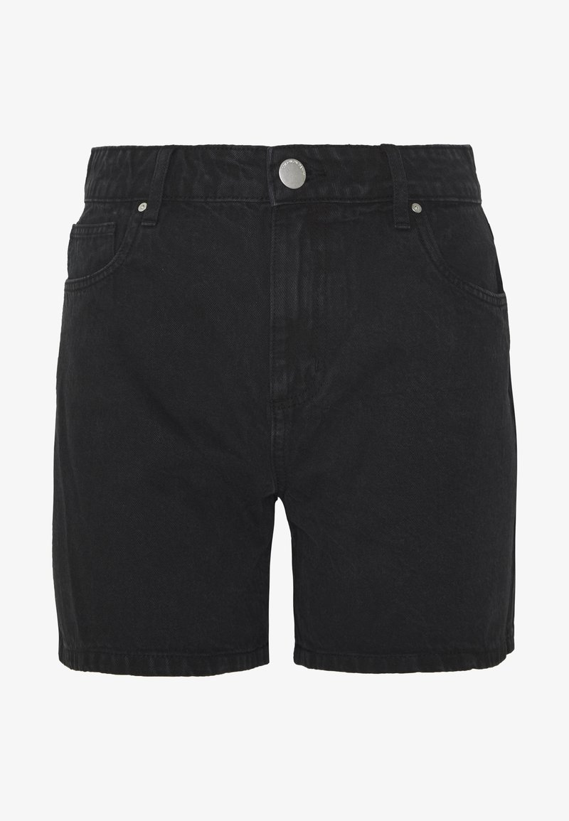Cotton On - HIGH RISE MILEY  - Jeansshorts - stonewash black