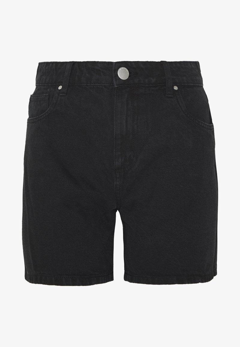 Cotton On - HIGH RISE MILEY  - Jeans Shorts - stonewash black