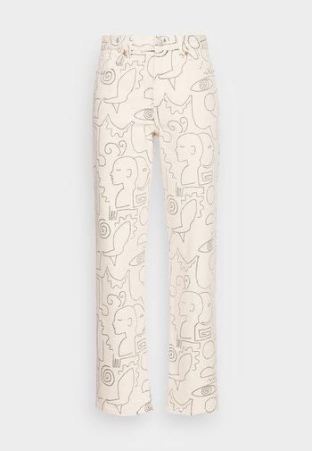 Jeans straight leg - white light