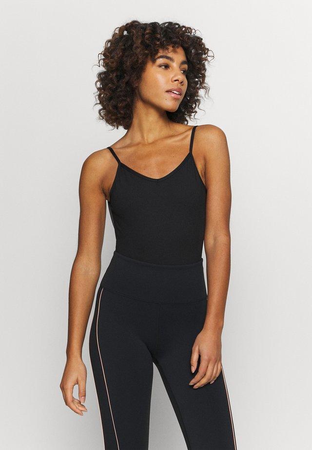 BACK LEOTARD - gymnastikdräkt - black