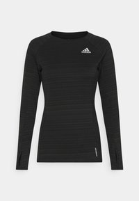 adidas Performance - ADI RUNNER - Sports shirt - black/reflective silver - 0