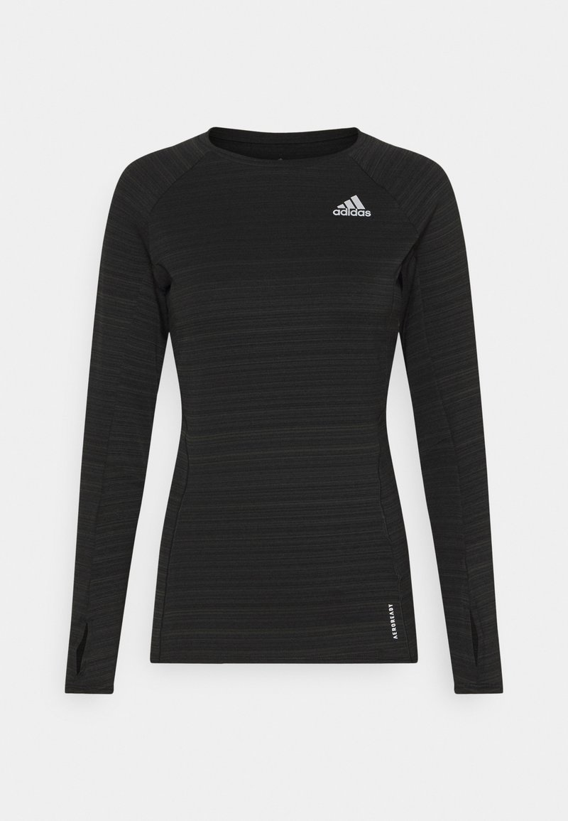 adidas Performance - ADI RUNNER - Sports shirt - black/reflective silver