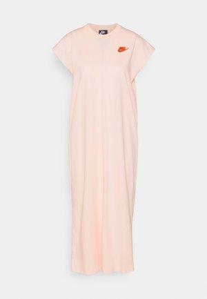 Žerzejové šaty - orange pearl/light sienna