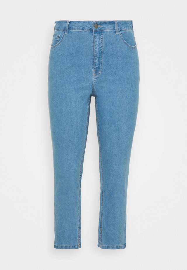 TALIA CROPPED - Jeans Skinny Fit - light blue washed denim