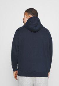 TOM TAILOR MEN PLUS - COSY BASIC JACKET - Zip-up hoodie - dark blue - 2