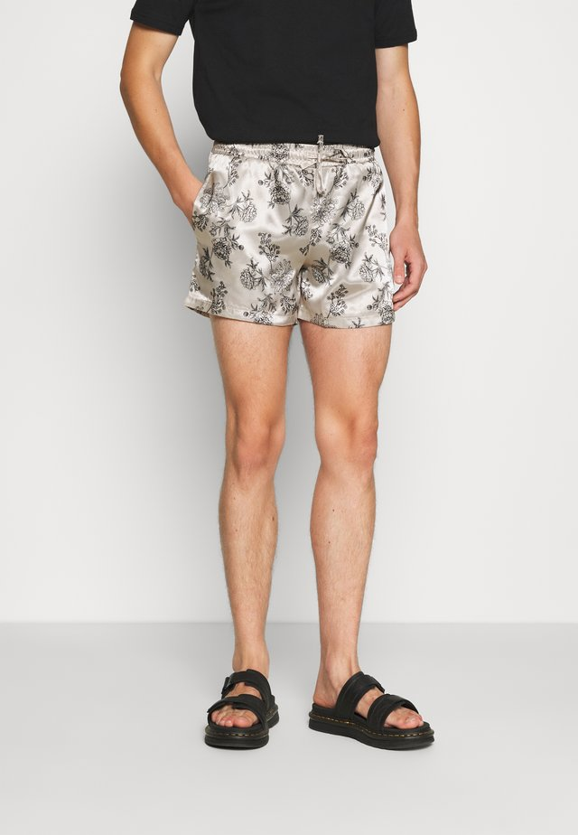 PRINTED FLORAL  - Shorts - black/ecru