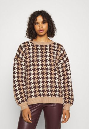 PREMIUM HOUNDSTOOTH - Pullover - brown