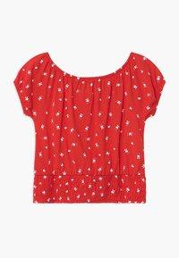 Blue Seven - TEEN GIRL OFF SHOULDER - Print T-shirt - rot - 1