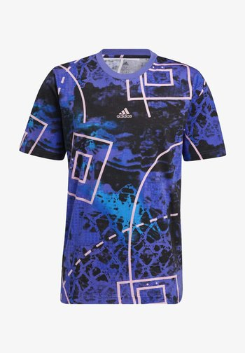TBACK SUBLIM BASKETBALL GRAPHICS GRAPHIC T-SHIRT - T-shirt con stampa - bright blue/active purple