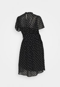 Dorothy Perkins Maternity - MONO FIT AND FLARE DRESS - Day dress - black/white - 1