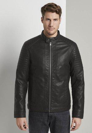 BIKER JACKET - Faux leather jacket - black