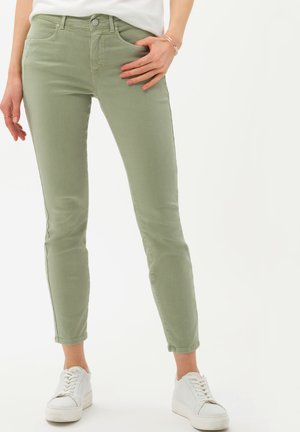 Slim fit jeans - light green