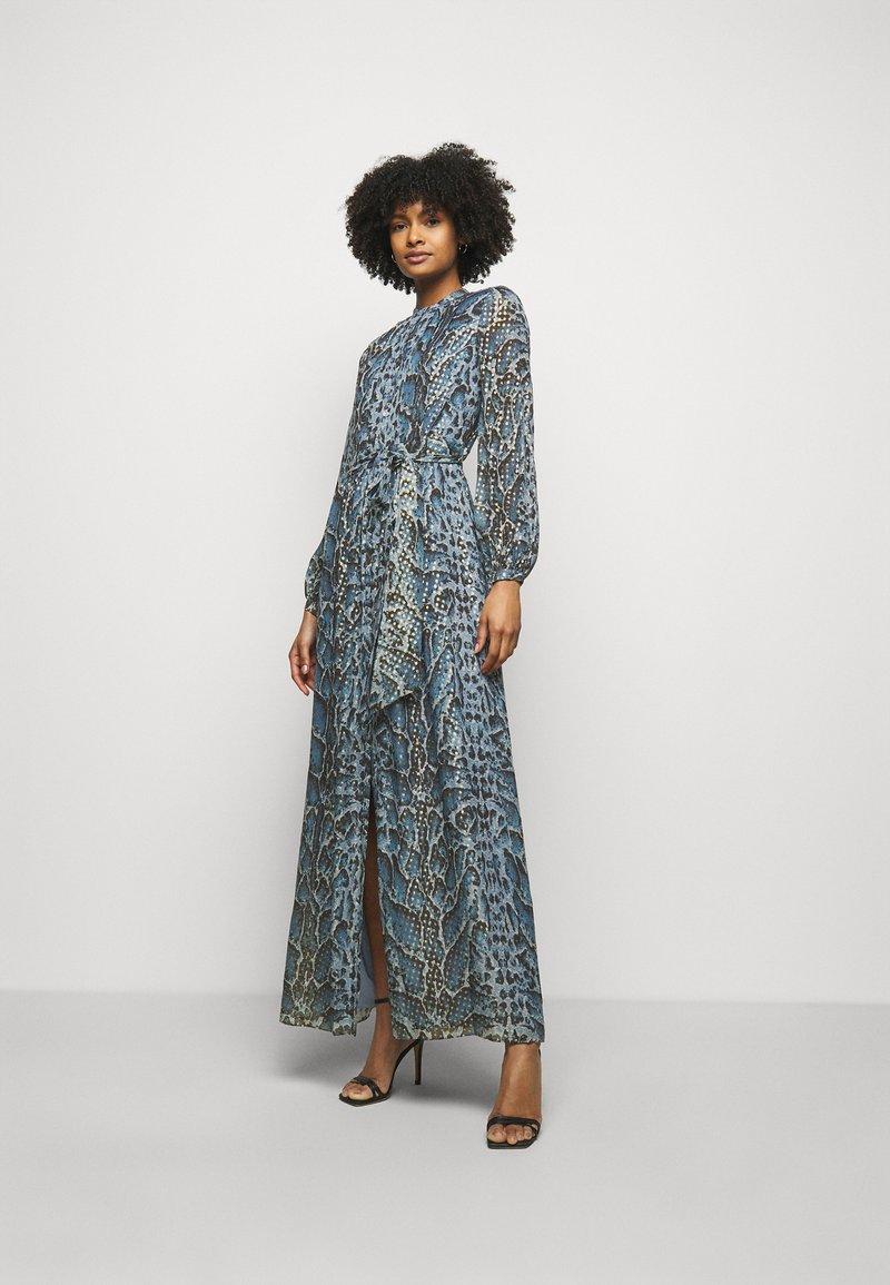 Temperley London - OCELOT PRINTED DRESS - Košilové šaty - powder blue