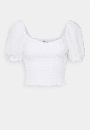 SMOCKED - Blusa - white