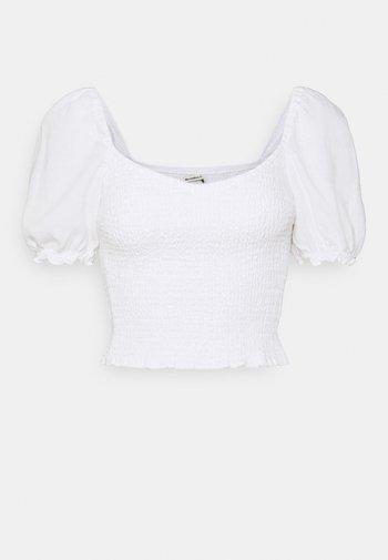 SMOCKED - Blouse - white
