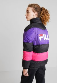 Fila - REILLY PUFF JACKET - Winter jacket - black/tillandsia purple/pink yarrow - 2