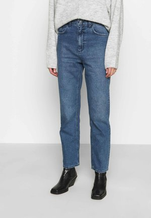 HIGH RISE - Straight leg jeans - light blue wash